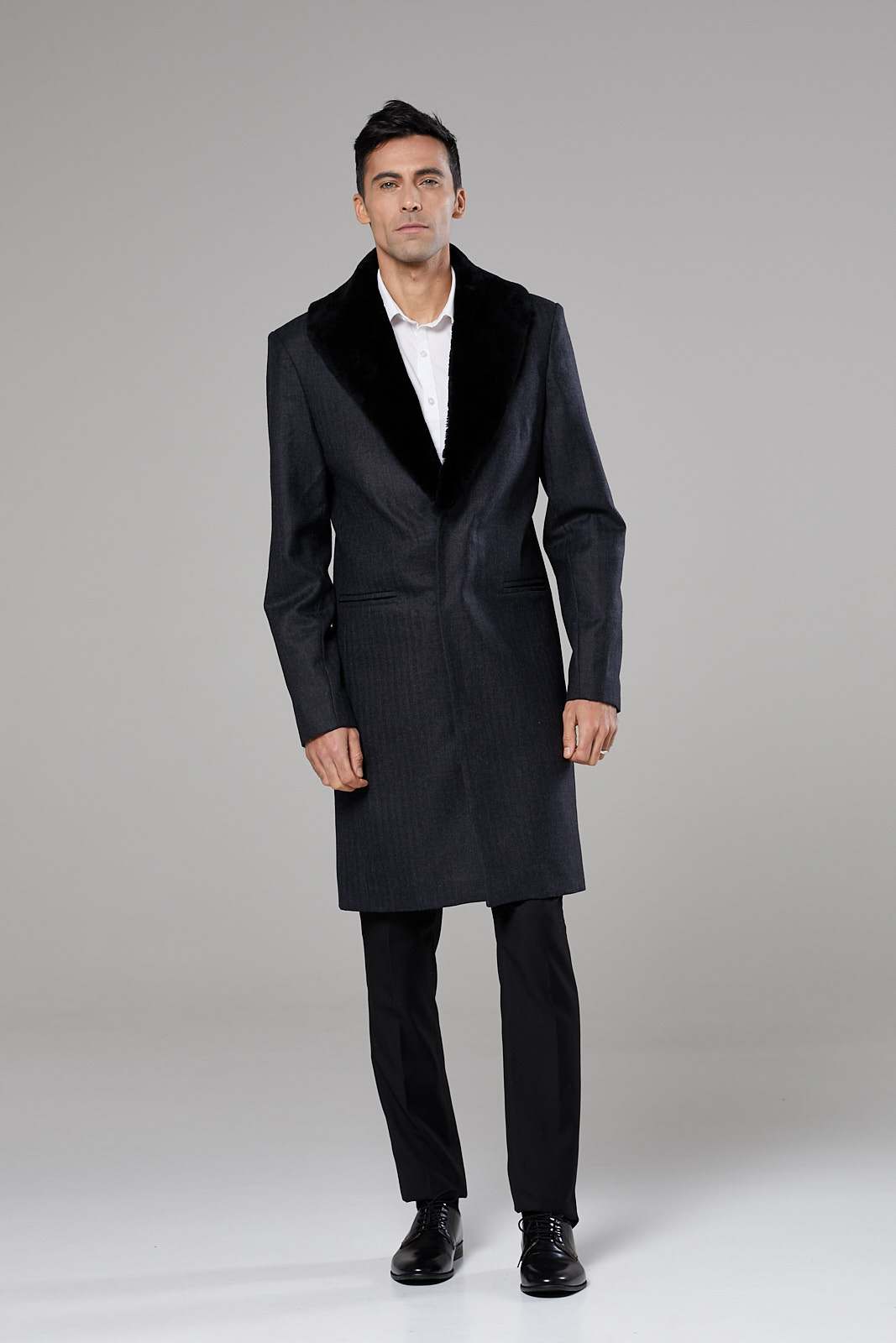 Fur Collared Formal Coat