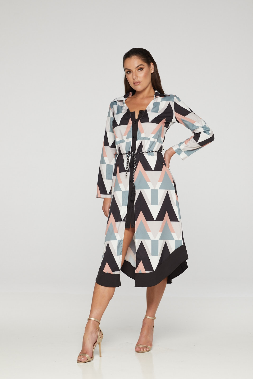 REG31 Multi-Coloured Front Buttoned Summer Dress