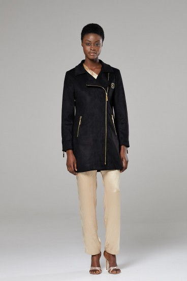 Luxury Faux Suede Trench Coat