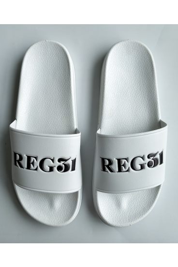 REG31 White Unisex Sliders