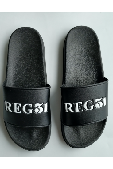 REG31 Black Unisex Sliders
