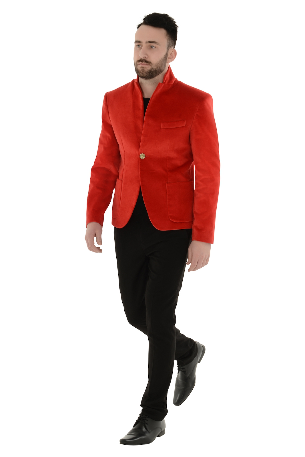 Mens Red Velvet Blazer